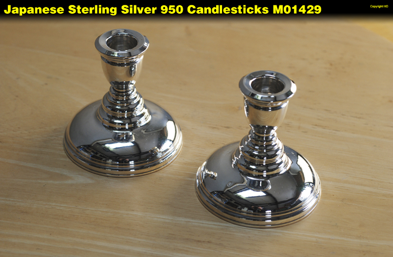 Silver japanese candlesticks