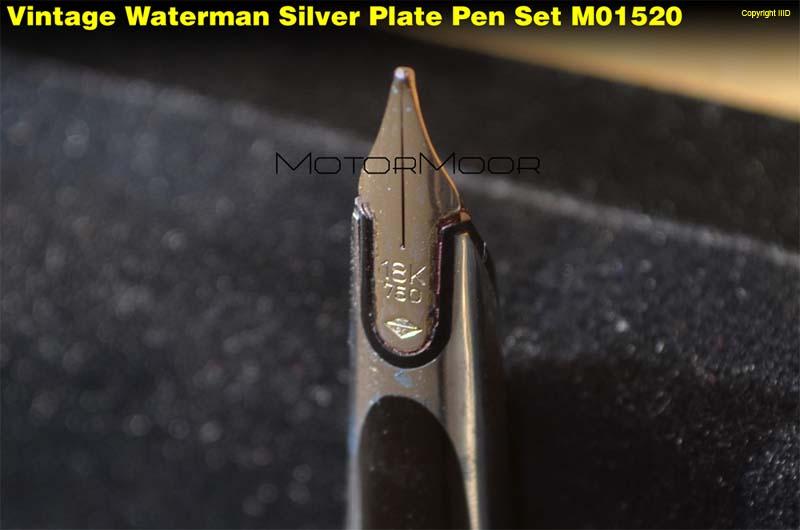 Vintage waterman silver silver macizo