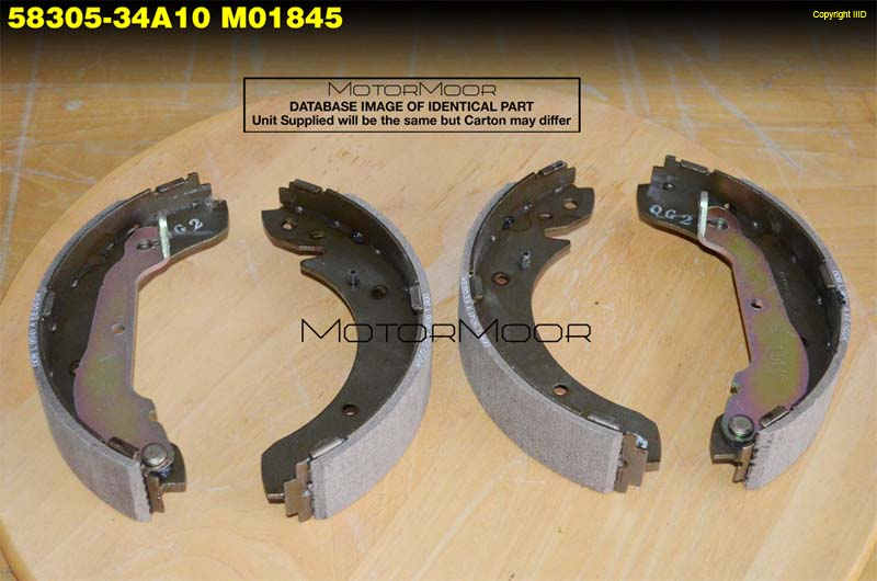 Hyundai Brake Lining : Hyundai shoe lining kit rr brake  a